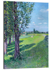 Aluminium print  Petit Gennevilliers from the 'Aumone Graben' - Gustave Caillebotte