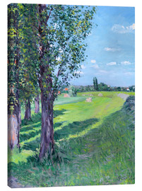 Canvas print  Petit Gennevilliers from the 'Aumone Graben' - Gustave Caillebotte