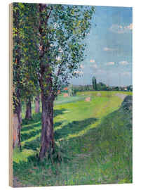 Wood print  Petit Gennevilliers from the 'Aumone Graben' - Gustave Caillebotte