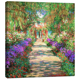 Canvas  A Pathway in Monet's Garden - Claude Monet