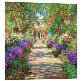 Claude Monet - A Pathway in Monet's Garden
