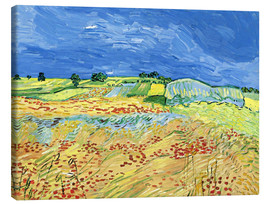 Canvas print  Fields with Blooming Poppies - Vincent van Gogh
