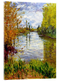 Acrylic print  Side arm of the Seine - Gustave Caillebotte
