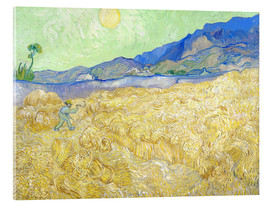 Acrylic print  Wheat Field with Reaper at sunrise - Vincent van Gogh