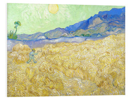 Foam board print  Wheat Field with Reaper at sunrise - Vincent van Gogh