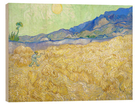 Wood  Wheat Field with Reaper at sunrise - Vincent van Gogh