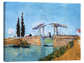 Canvas print  The drawbridge in Arles - Vincent van Gogh