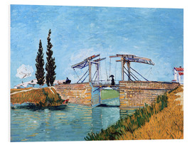 Foam board print  The drawbridge in Arles - Vincent van Gogh