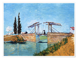 Premium poster  The drawbridge in Arles - Vincent van Gogh