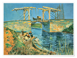 Poster  The bridge of Langlois in Arles with washerwomen - Vincent van Gogh