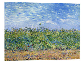 Acrylic glass  Corn field with poppies and partridge - Vincent van Gogh
