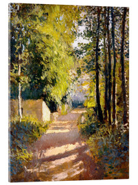 Acrylic glass  Path under trees - Gustave Caillebotte