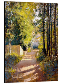 Aluminium print  Path under trees - Gustave Caillebotte