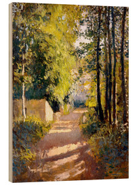 Wood print  Path under trees - Gustave Caillebotte