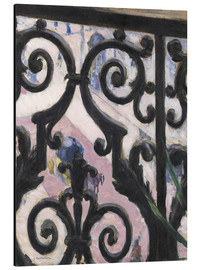 Aluminium print  View through balcony grill - Gustave Caillebotte
