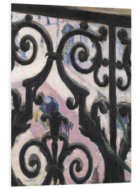 Foam board print  View through balcony grill - Gustave Caillebotte