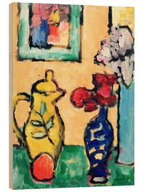 Wood print  Yellow Pitcher - Alexej von Jawlensky
