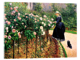Acrylic print  Roses in the garden - Gustave Caillebotte