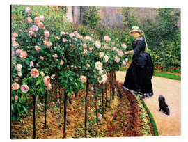 Aluminium print  Roses in the garden - Gustave Caillebotte