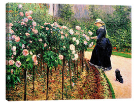 Canvas print  Roses in the garden - Gustave Caillebotte