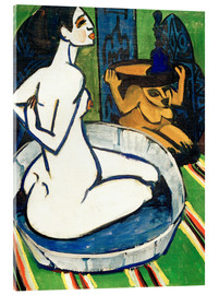 Acrylic glass  Female nude in the tub - Ernst Ludwig Kirchner