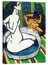 Canvas print  Female nude in the tub - Ernst Ludwig Kirchner