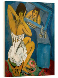 Wood  Woman in front of the Mirr - Ernst Ludwig Kirchner