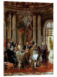 Acrylic glass  King Frederick II. Guests at Sanssouci - Adolph von Menzel