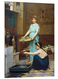 Foam board print  Household Gods - John William Waterhouse