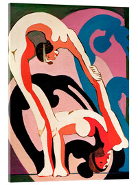 Acrylic print  Acrobats - Ernst Ludwig Kirchner