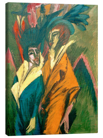 Canvas print  Two women on the street - Ernst Ludwig Kirchner