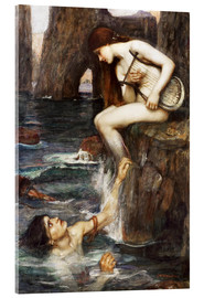 Acrylic print  The Siren - John William Waterhouse