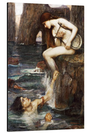 Aluminium print  The Siren - John William Waterhouse