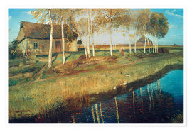 Premium poster  Autumn Morning in the Moor - Otto Modersohn