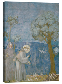 Canvas print  St.Francis preache sto the birds - Giotto di Bondone