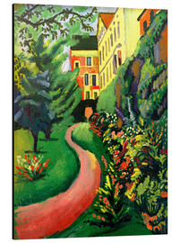 Aluminium print  Our garden with blooming discounts - August Macke