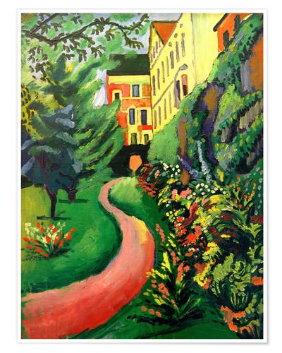 Premium poster Our garden with blooming discounts