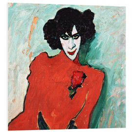 Foam board print  The dancer, Alexander Sakharov - Alexej von Jawlensky