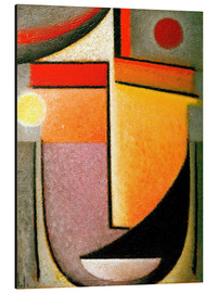 Aluminium print  Abstract head: Morning light - Alexej von Jawlensky