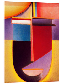 Acrylic print  Abstract Head: Sun - color - life - Alexej von Jawlensky