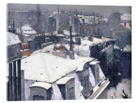 Acrylic print  Roofs in the snow - Gustave Caillebotte