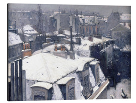 Aluminium print  Roofs in the snow - Gustave Caillebotte