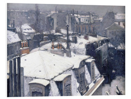 Foam board print  Roofs in the snow - Gustave Caillebotte