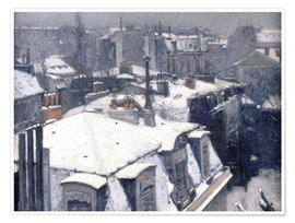 Poster  Roofs in the snow - Gustave Caillebotte