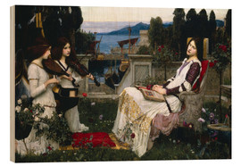 Wood print  Saint Cecilia - John William Waterhouse