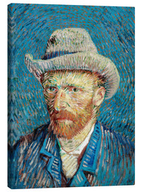 Canvas print  Vincent van Gogh with Grey Hat - Vincent van Gogh
