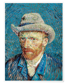 Premium poster Vincent van Gogh with Grey Hat