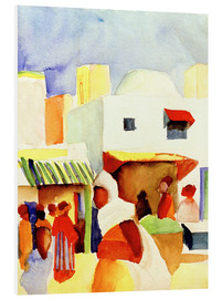 Foam board print  Market in Tunis I - August Macke