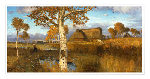 Premium poster The Marsh in Autumn