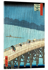 Acrylic print  Ohashi bridge in the rain - Utagawa Hiroshige